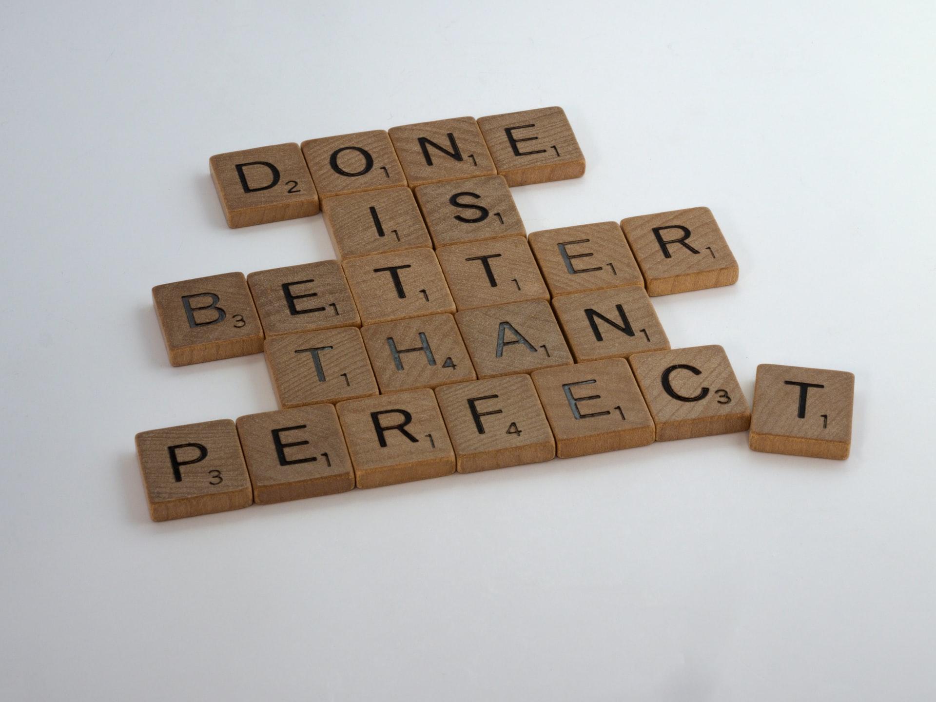 Perfektionismus. Verliere dich nicht in Details.